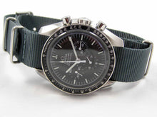 Load image into Gallery viewer, Gun metal ballistic nylon Nato® watch strap for Omega Speedmaster NO WATCH