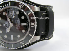 Load image into Gallery viewer, Superb leather bund strap for Rolex Submariner watches 20mm 22mm - back in stock!