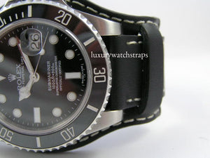 Superb leather bund strap for Rolex Submariner watches 20mm 22mm - back in stock!