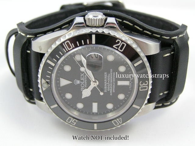 Superb leather bund strap for Seiko Dive Marinemaster Prospex Watches 6309 7002 SKX007 SKX009 20mm 22mm - back in stock!