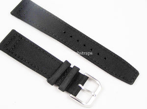Stunning handmade fabric and leather strap for IWC watches 20mm with high quality steel buckle