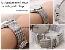 Load image into Gallery viewer, Superior steel Milanese Milanaise mesh bracelet strap for Citizen Watches 20mm 22mm NO WATCH