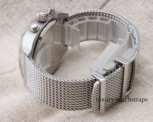 Superior steel Milanese Milanaise mesh bracelet strap for Seiko Watches 20mm 22mm