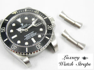 Precision engineered solid 316L stainless steel end links for Rolex Submariner and GMT