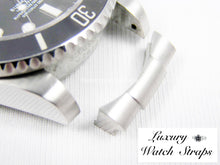 Load image into Gallery viewer, Precision engineered solid 316L stainless steel end links for Rolex Submariner and GMT