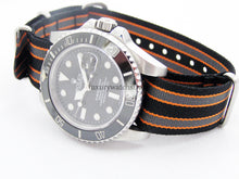 Load image into Gallery viewer, Ballistic nylon Nato® watch strap for Rolex Submariner GMT Daytona Yachtmaster watches 20mm