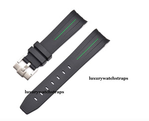 Vulcanised rubber watch strap for Tudor Black Bay, Black Bay 41, Black Bay Chrono, Black Bay GMT, Black Bay S&G, Heritage Chrono 20mm