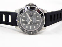 Load image into Gallery viewer, Ultimate high grade silicone black rubber watch strap for Rolex Submariner Watch 20mm