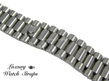 Load image into Gallery viewer, Solid stainless steel President bracelet for Citizen Ecodrive  20mm & 22mm watches. Straight End Links. Superb quality. Features screw links.