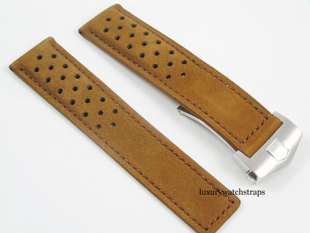 HIGH QUALITY SUEDE LEATHER STRAP FOR TAG HEUER WATCHES 22mm
