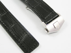HIGH QUALITY BLACK BROWN LEATHER STRAP FOR TAG HEUER WATCHES 22mm