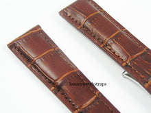Load image into Gallery viewer, HIGH QUALITY BLACK BROWN LEATHER STRAP FOR TAG HEUER WATCHES 22mm