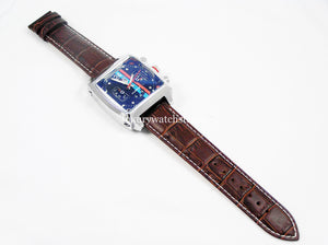 New Leather Deployment watch strap for Tag Heuer Watches 18mm 20mm 22mm 24mm Black Brown