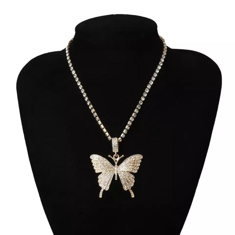 Monarchy Butterfly Rhinestone Butterfly Bling Necklace ( various colors) - 716 Microblading & Beauty