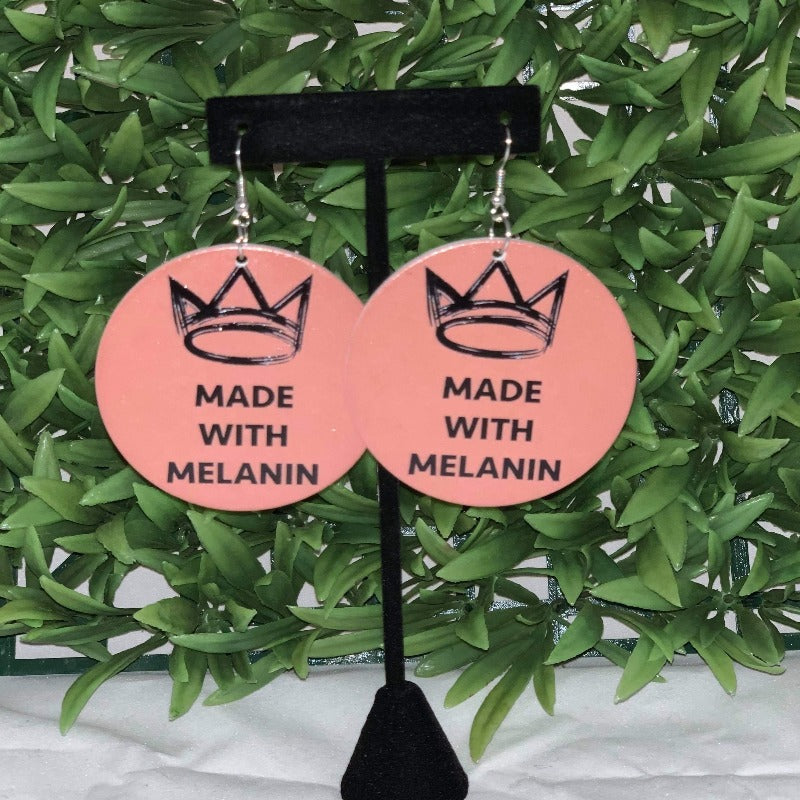Made With Melanin Wooden Statement Earrings - 716 Microblading & Beauty