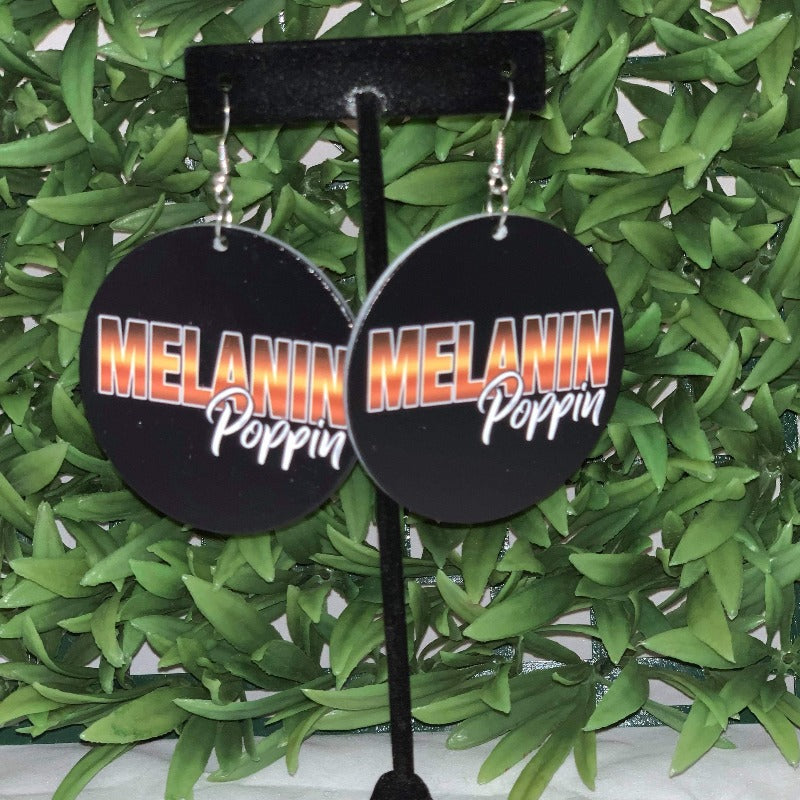 Melanin Poppin Wooden earrings - 716 Microblading & Beauty