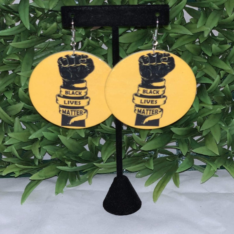 Black Lives Matter Say Loud wooden Earrings - 716 Microblading & Beauty