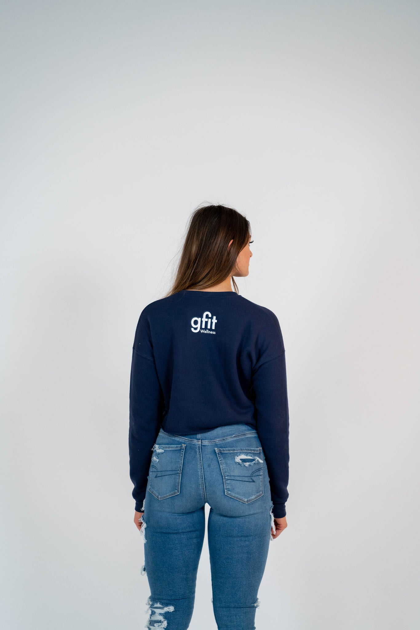EA Navy Cropped Fleece