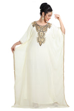 Load image into Gallery viewer, Cream Wedding Gown Dubai Maxi Dress for Wholesale Buy