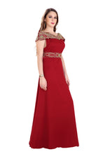 Load image into Gallery viewer, Detailed Crystal Beaded Designer One Peice Party Gown Ladies Byzantine Boho