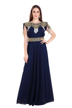 Load image into Gallery viewer, Haute Coutre Designer Ladies Cocktail Party Gown Moroccan Fustan