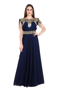 Haute Coutre Designer Ladies Cocktail Party Gown Moroccan Fustan