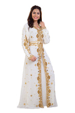 Load image into Gallery viewer, Traditional Algerian Kaftan Moroccan Farasha Designer Kurdish Dress