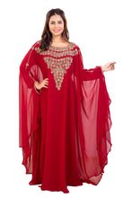Load image into Gallery viewer, Traditional Dubai Kaftan Crystal Beaded Ladies Khaleeji Thobe