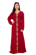Load image into Gallery viewer, Hand Embroidered Tunisian Cultural Walima Gown Kurdish Dress