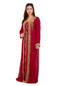 Hand Embroidered Tunisian Cultural Walima Gown Kurdish Dress
