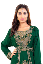 Load image into Gallery viewer, Crystal Beaded Ladies Palestinian Kaftan Moroccan Takchita