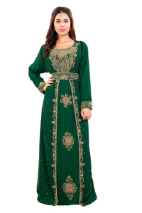 Crystal Beaded Ladies Palestinian Kaftan Moroccan Takchita