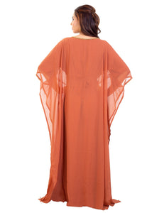 Traditional Arabic Dress Hand Embroidered Dubai Kaftan Maxi