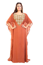Load image into Gallery viewer, Traditional Arabic Dress Hand Embroidered Dubai Kaftan Maxi