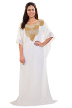 Load image into Gallery viewer, Cream Maxi Dress Traditonal Kaftan For Bulk Purchase