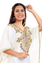 Load image into Gallery viewer, Traditional Dubai Farasha Hand Embroidered African Kaftan
