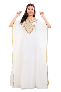Traditional Dubai Farasha Hand Embroidered African Kaftan