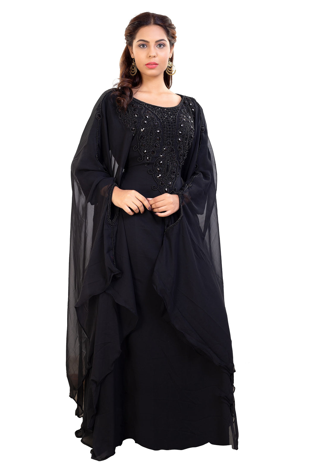 Jasmine Designer Maghribi Kaftan Ladies Farasha Maxi Dress