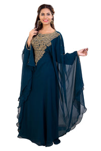 Traditional Khaleeji Thobe Hand Embroidered Customized Dubai Kaftan
