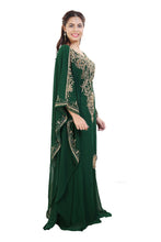 Load image into Gallery viewer, Maghribi Kaftan Rhinestone Customized Khaleeji Thobe Wedding Gown