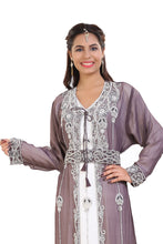 Load image into Gallery viewer, Tunisian Cultural Walima Gown Hand Embroidered Moroccan Caftan