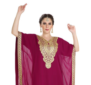 Traditional Comfortable Arabic Kaftan Pregnant Women Jalabiya Maxi