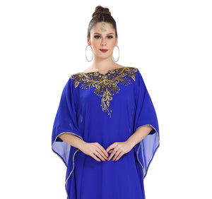 Crystal Beaded Ladies Cocktail Party Dress Iranian Boho