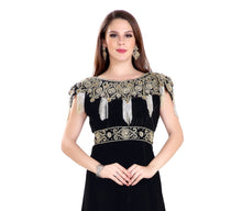 Load image into Gallery viewer, Traditional Dubai Fustan Hand Embroidered Designer Party Gown