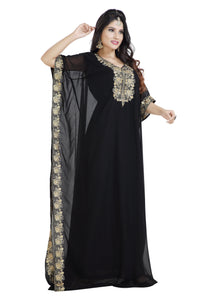Black Farasha Maxi Dress For Ladies (Bulk Orders)