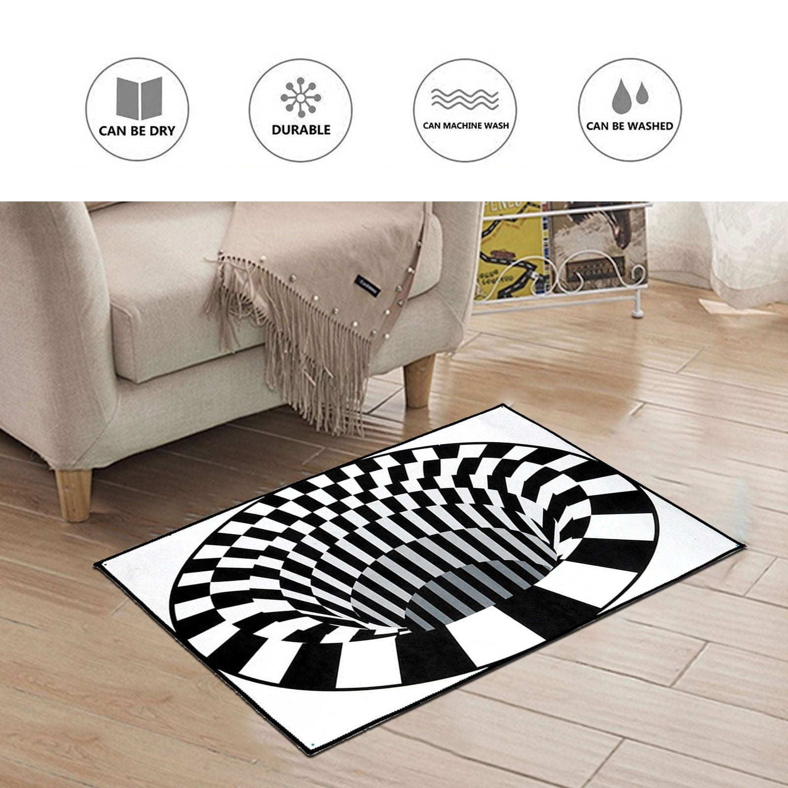3D Optical Vortex Rug