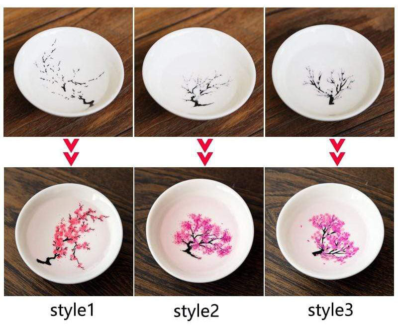 Color-Changing Cherry Blossom Sake Cup