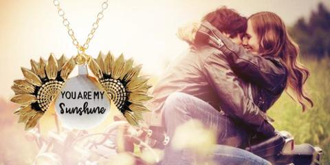 """""""You Are My Sunshine"""" - Sunflower Necklace"""