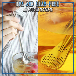 Handy Stainless Spoon Straw