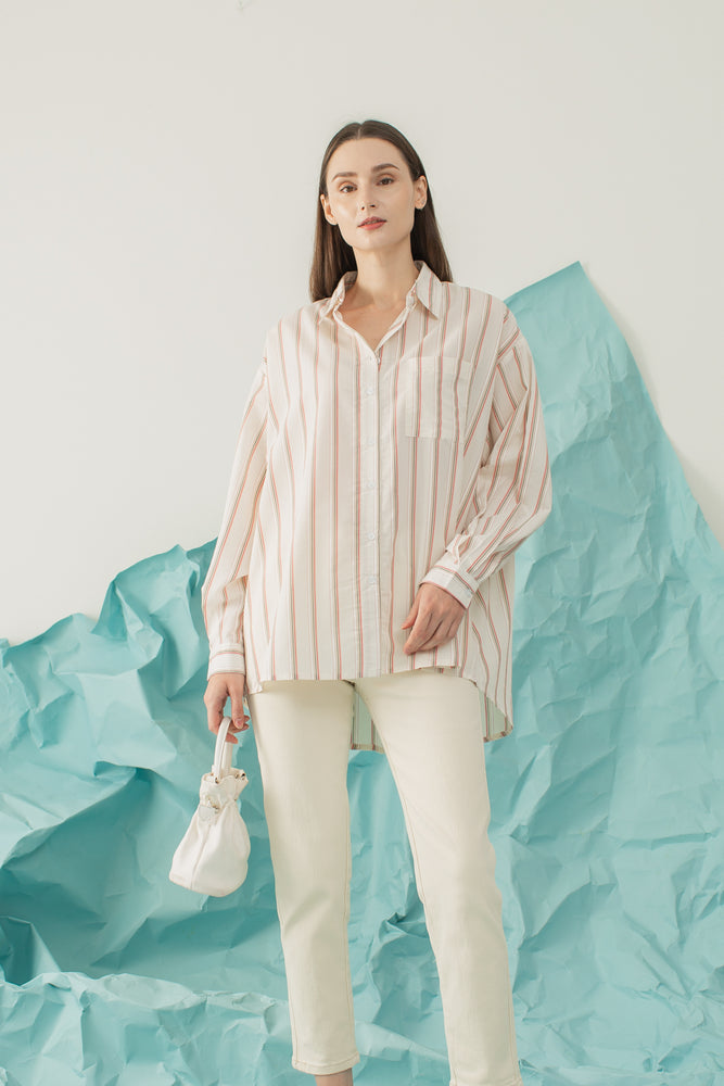Dalmi Top in Stripe Pink